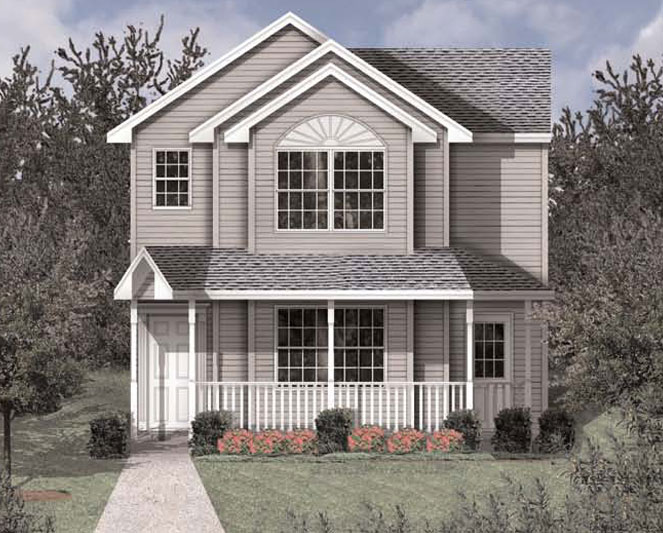 Free home plans homeplans for narrow lots for Award winning narrow lot house plans