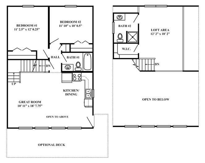 Vacation series mountain chalet for Vacation floor plans