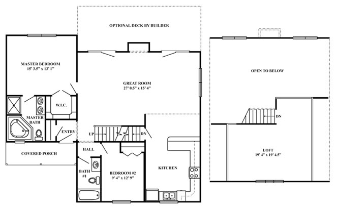Vacation series mountain view Floor plan view